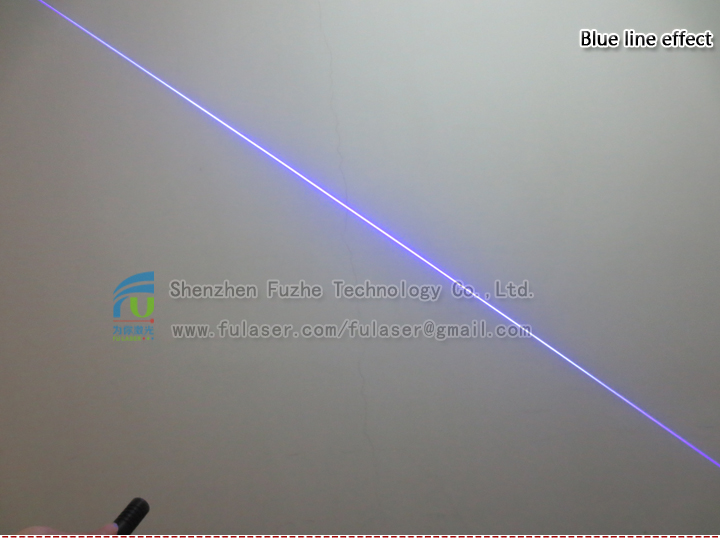 FU450ALX-BXS22 445-450nm 0.1~1000mW portable Blue Violet Line Projecting Alignment Laser adjustable focus with button ON/OFF, 14500 rechargeable battery
