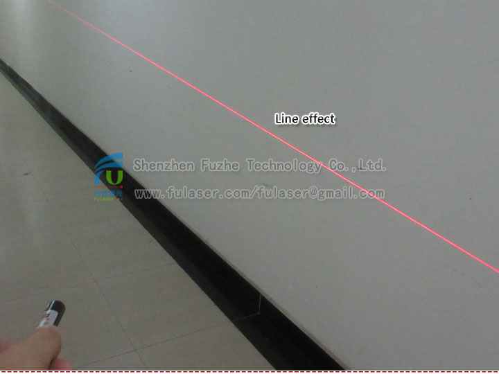 FU635AL5-BXS22 635-640nm <3mW portable red LINE laser diode module adjustable focus with button ON/OFF, 14500 rechargeable battery