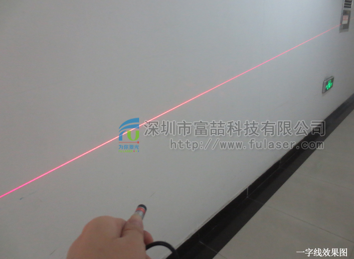 FU685ALX-GD10 685nm 50mW red line generator laser module adjustable focus with 5.5*2.1mm DC connector