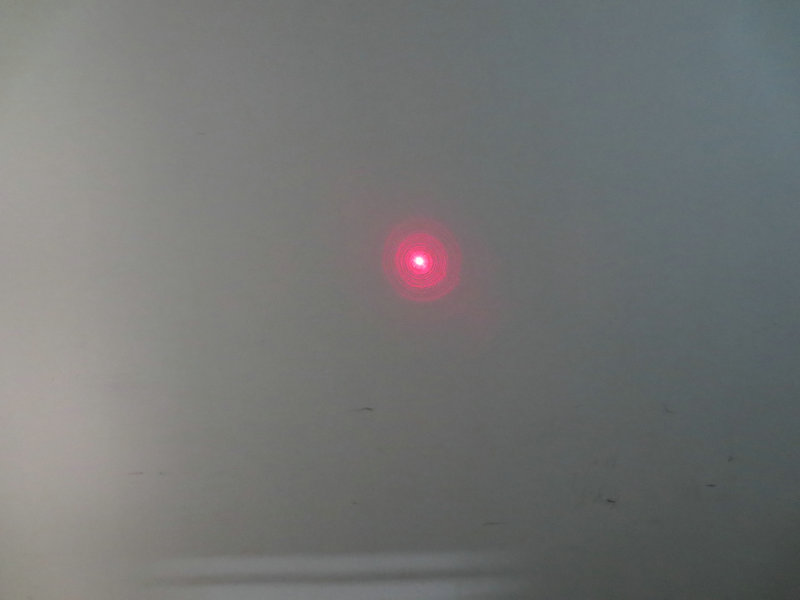FU635AD600-GD10 635nm 600mW red point dot laser module adjustable focus with 5.5*2.1mm DC connector