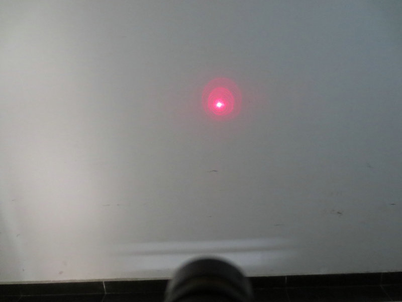FU635AD500-GD10 635nm 500mW red point dot laser module adjustable focus with 5.5*2.1mm DC connector