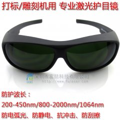 FU-ZYYJ04 Protective glasses for 1064nm laser marking machine, laser welding machine, laser cutting machine
