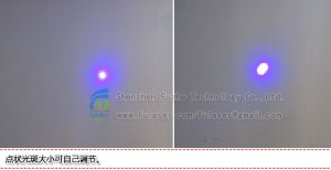 FU450AD1500-GD22 450nm 1500mW blue dot laser with adjustable focus 22*110mm blue laser pointer, laser blue pointer