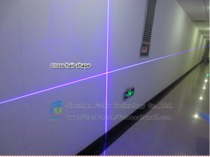 FU450C1500-BD26 450nm 1500mW blue laser cross LINE generator with fixed focus 26*110mm housing, blue cross line laser, blue cross laser line, blue lazer line, blue cross line lazer