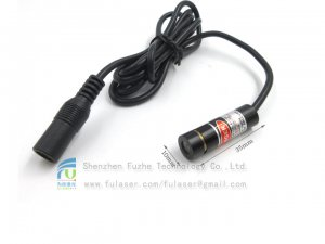FU670ADX-GD10 670-675nm 0.4-50mW red point dot laser module adjustable focus with 5.5*2.1mm DC connector
