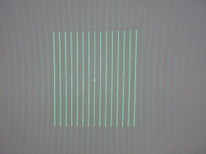 FU52015PXX50-GD16 510~530nm 520nm 510nm 50mW Diffractive optical elements(DOE) 15 multi lines parallel lines pattern with adjustable focus