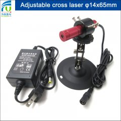 FU690ACX-GD1465 680-700nm 690nm 14x65mm adjustable red cross hair line laser diode module