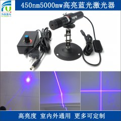 FU450AC5000-GD22 450nm 5000mW blue cross hair laser, blue cross laser, cross lazer blue, cross lazer line